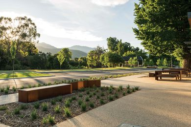 Alpine Better Places: Porepunkah by MDG Landscape Architects.