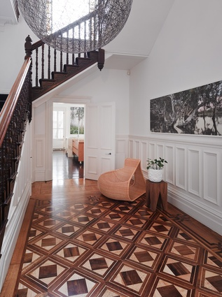 an elegant victorian stair leads up to the bedrooms artwork nici cumpston gallerysmith - Australian Victorian Houses