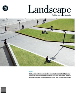 Landscape Architecture Australia, August 2009