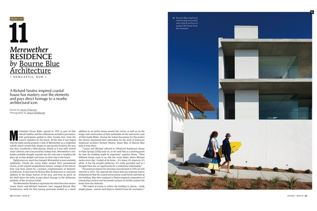 <em>Houses 89</em> preview: Merewether Residence by Bourne Blue Architecture.