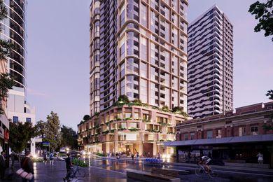 210 Brunswick Street By Cox Architectrure的租赁塔楼。