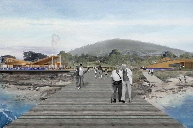 Searle x Waldron Architecture, Edwards Moore and Bush Projects' proposal for the Point Grey foreshore redevelopment.