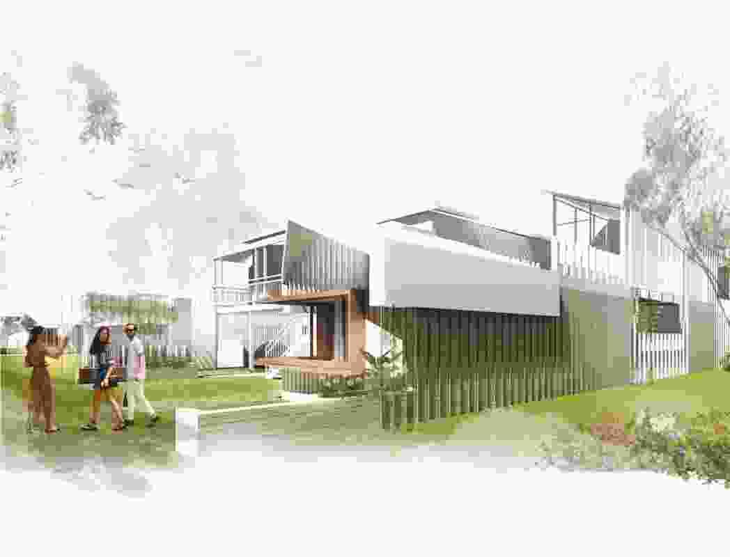 Linear Landscape House by Rebecca Champney, Nettleton Tribe.