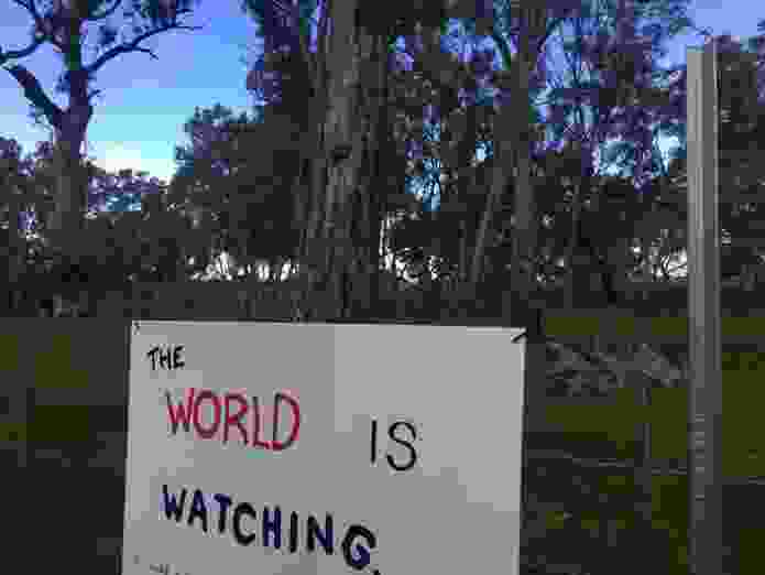 Sign at the Djab Wurrung embassy.