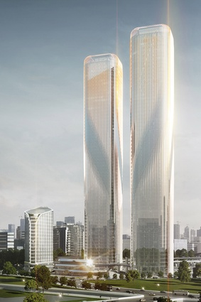 The Zhejiang Gate Towers project by LAVA in Hangzou, China.