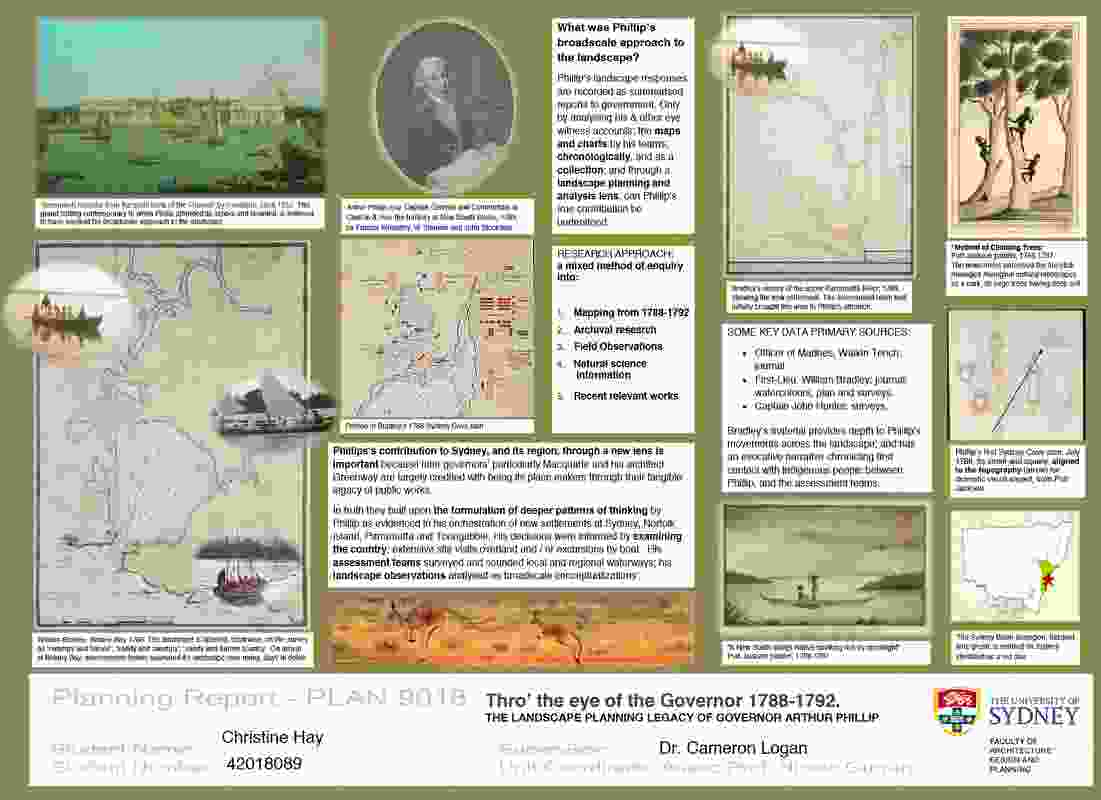 The Governor's Gift, Phillip's Landscape Vision, Research Paper by Christine Hay.