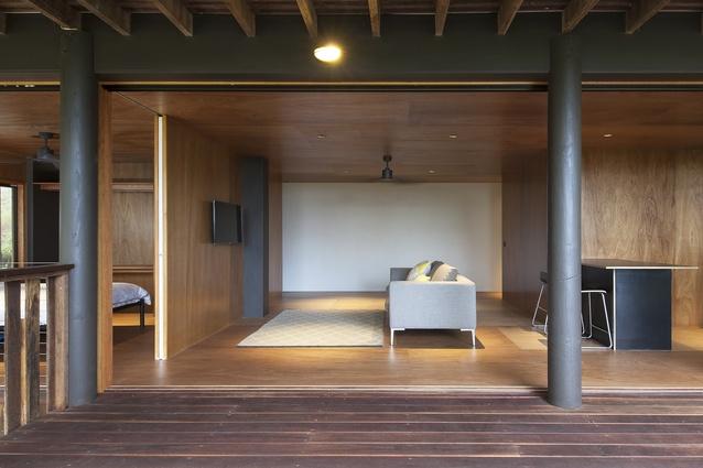 Plywood Box Flat by Majstorovic Architecture.