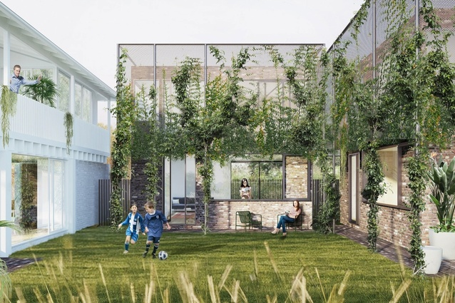 "Dappled Dwellings by Trias – a winner of the Queensland government's ""missing middle"" housing design competition."