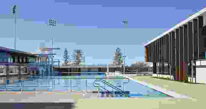 Gold Coast Aquatic Centre by Cox Rayner Architects.
