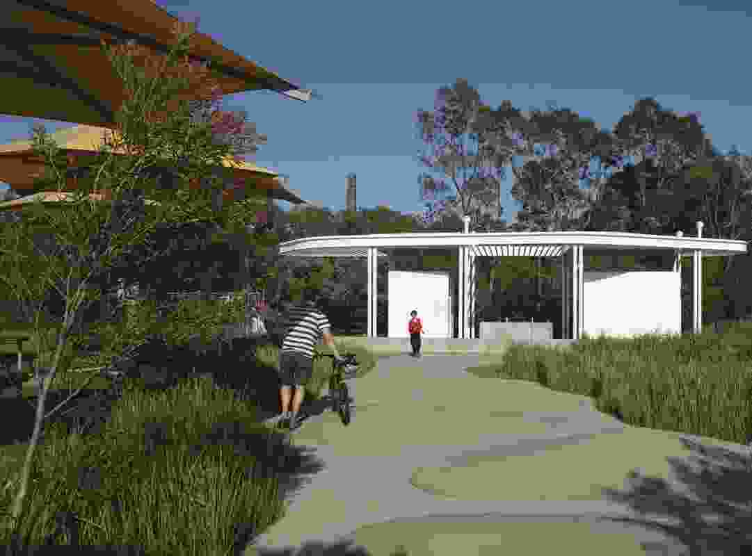 Sydney Park Amenities by Aileen Sage Architects with City of Sydney.