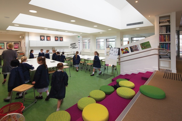Learning spaces are open plan, with their design underpinned by the principle of transforming learning into a journey of discovery.