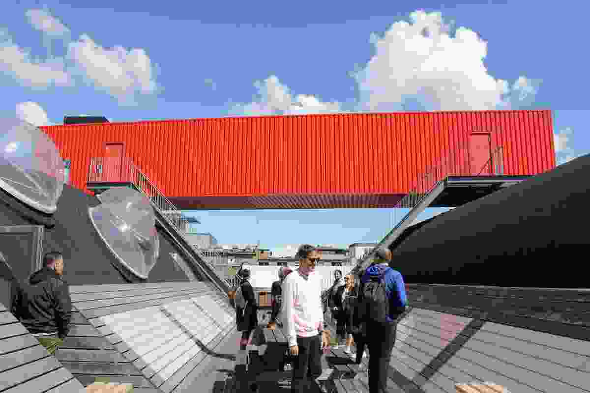 Sjakket Youth Club by Bjarke Ingels Group and JDS Architects.