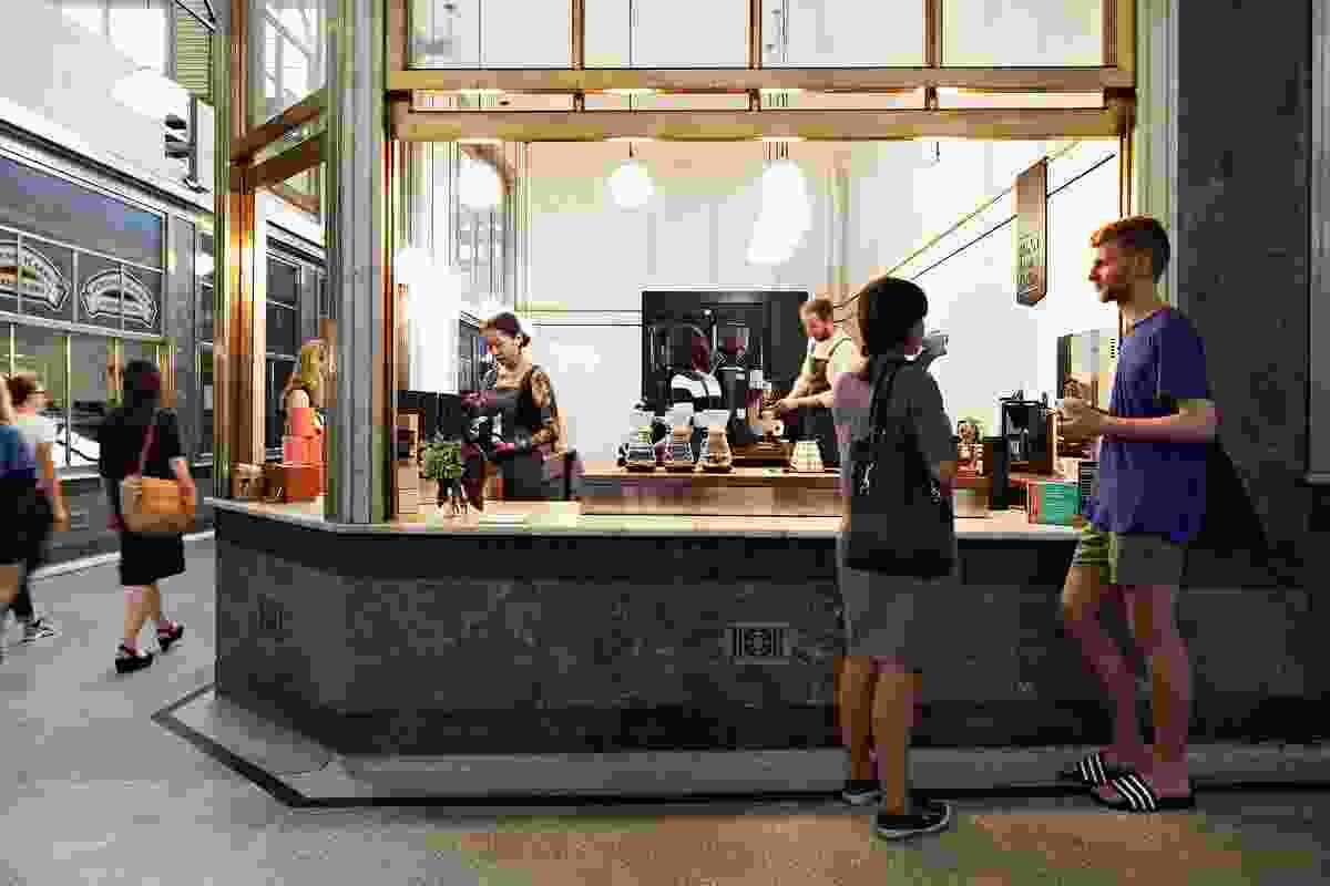 Market Lane Coffee, Queen Victoria Market by Sarah Trotter Hearth Studio.