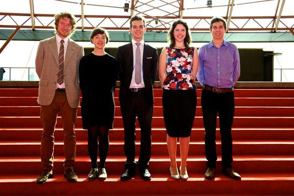 Australian students for MADE 2015: Alex Crowe, Julianne Lipman, Alasdair Mott, Nina Tory-Henderson and Nicholas Werrett.