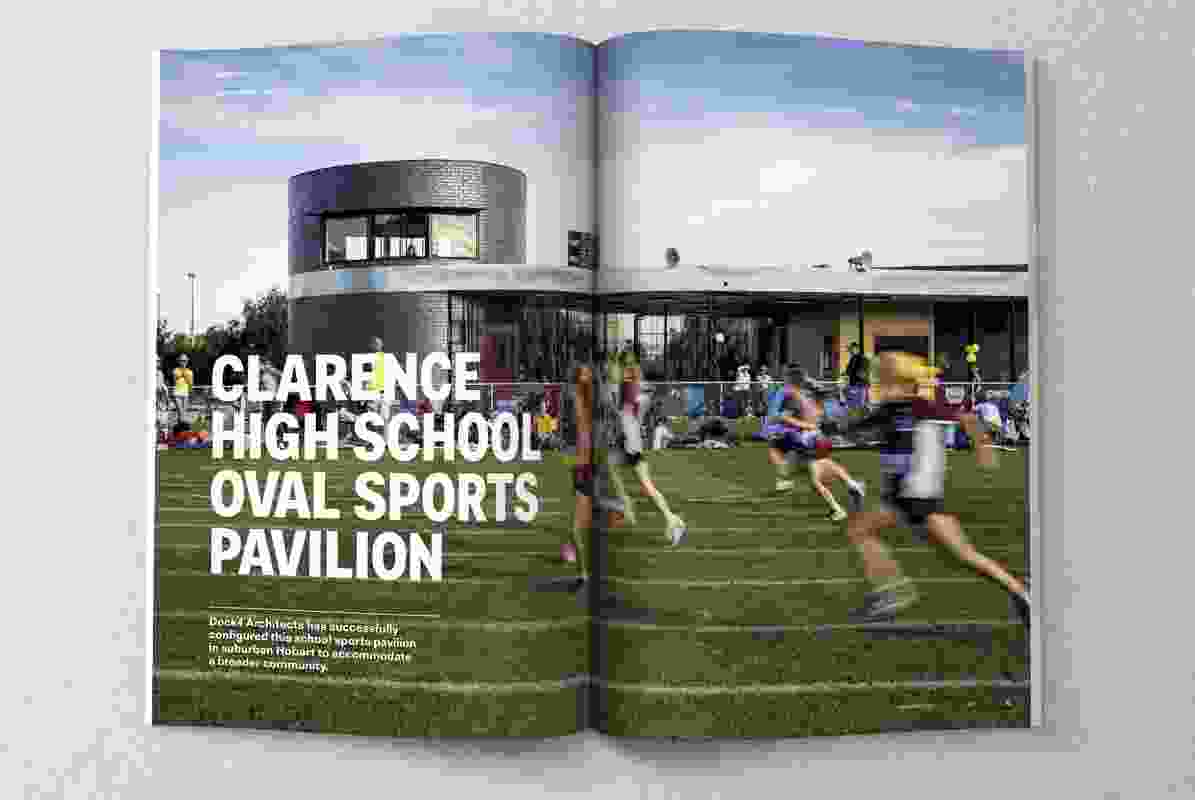 Clarence High School Oval Sports Pavilion by Dock4 Architects.