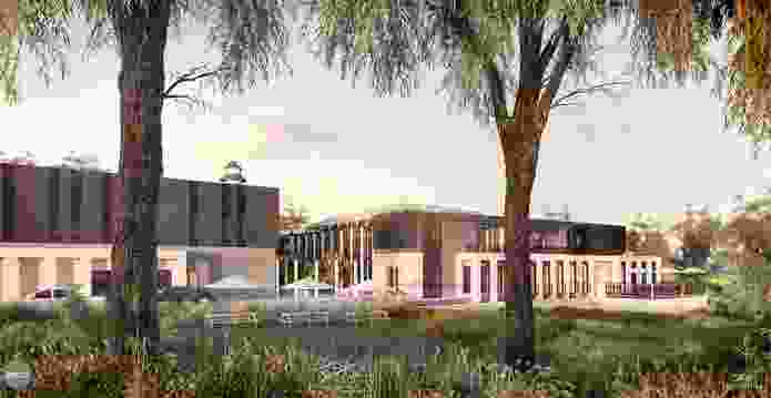 """The proposed Bendigo mosque designed by GKA Architects will be a """"non-monumental"""" building set in a valley."""