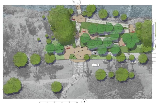University of Queensland Ferry Wharf site plan.