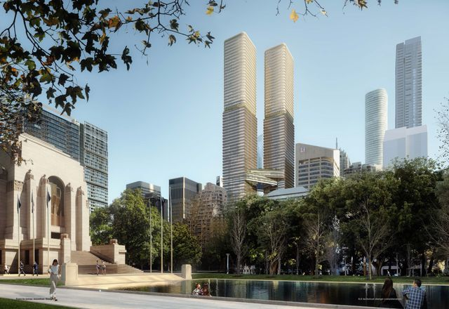 The 338 Pitt Street development, with lead design by FJMT.