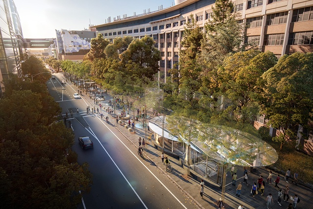 The proposed Parkville station to be designed by Hassell, Weston Williamson and Rogers Stirk Harbour and Partners.