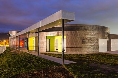 Clarence High School Sports Pavilion by Dock 4 Architects.