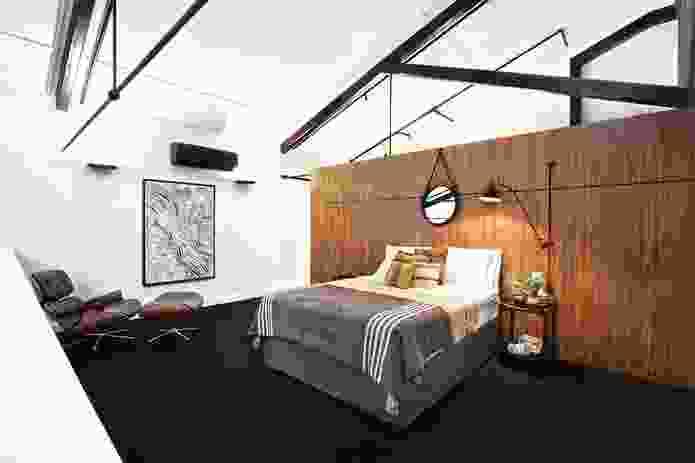 Mezzanine bedroom. Artwork: Lloyd Kwilla, Kulyayl Waterhole.