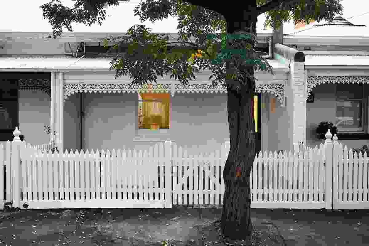尽管其强烈的视觉识别,住宅无缝地依偎在南亚拉周围。