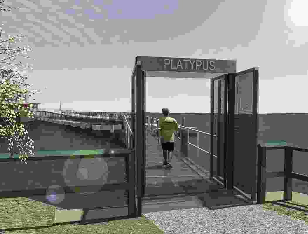 A new walkway would connect HMAS Platypus to Kesterton Park and the Sydney ferry network.