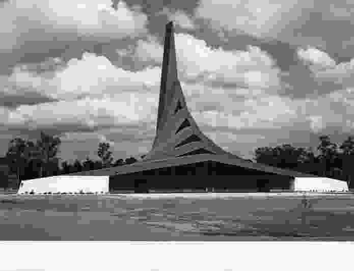 Michael Dysart's expressive form for a chapel for the migrant Polish Catholic community in Blacktown, NSW. Marayong Memorial Chapel for Polish War Dead (Polish War Memorial Chapel, c. 1967).