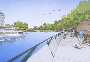 The Parramatta Escarpment Boardwalk designed by Hill Thalis Architecture with Jane Irwin Landscape Architecture and McGregor Westlake Architecture.
