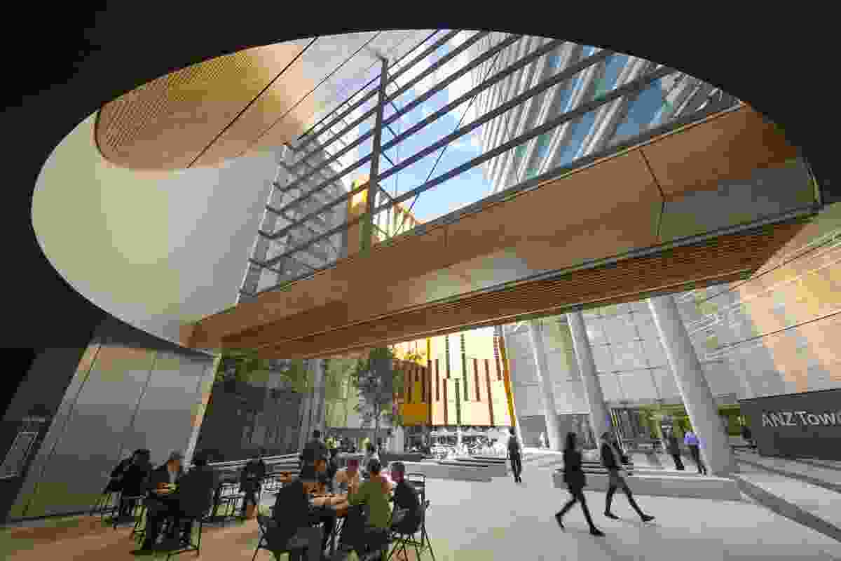 Liberty Place by Francis-Jones Morehen Thorp involved the design of a public space in Sydney, linking Pitt Street and Castlereagh Street in the city's CBD.