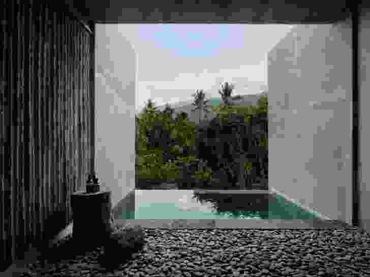 To move through the Tiing's guest suites is to move conceptually away from the sea and deeper into the mountains and dense vegetation.