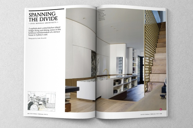 Kitchen by Luigi Rosselli Architects.