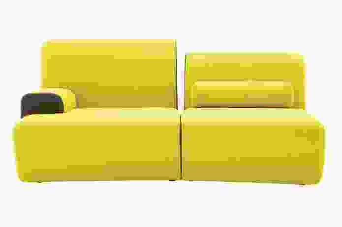 The 2011 Entailles sofa for Ligne Roset is marked by notches in contrasting colours.