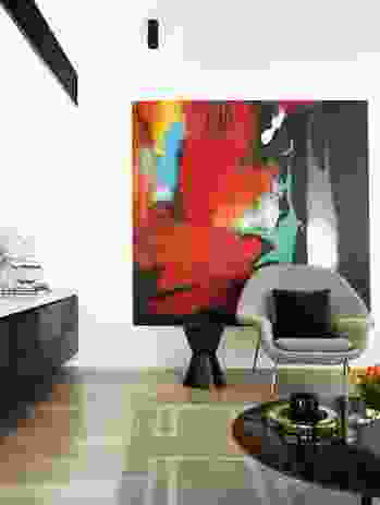 Tiziana Manga by Charlie Sheard adds colour to the living space.