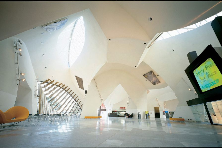The Great Hall at the National Museum of Australia in Canberra (2001) by ARM Architecture.
