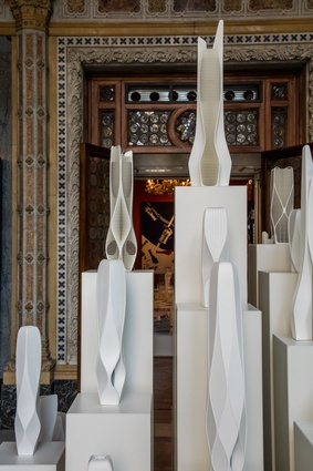 Models from the Zaha Hadid exhibition in the Palazzo Franchetti, Venice.