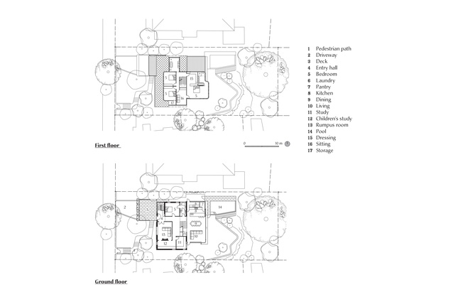 Plans of Hill Top Cottage by Luigi Rosselli Architects.