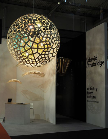 David Trubridge's stand at Euroluce.