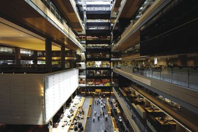 The ANZ Centre by Hassell was the winning project In the interiors category at the World Architecture Festival 2010.