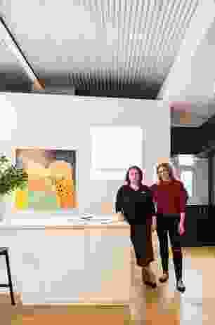 Sarah-Jane Pyke and Juliette Arent of Arent and Pyke. Artwork: Jo Bertini.