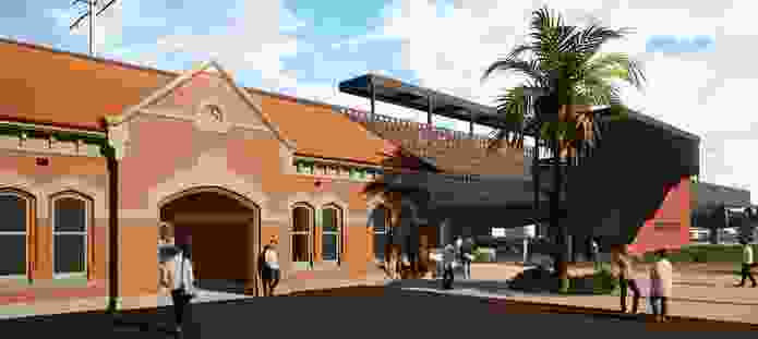Proposed Moreland railway station by Wood Marsh.