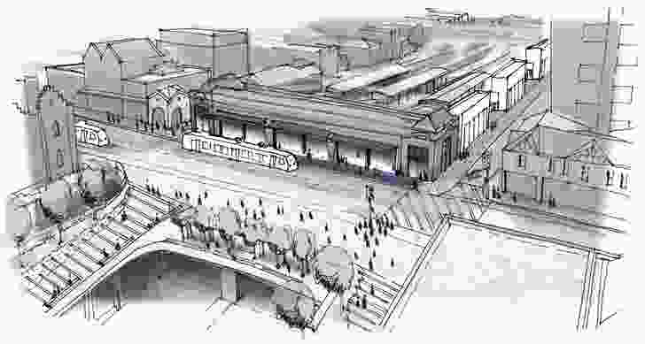 The City of Stonnington's proposal for a public plaza on the 166 Toorak Road site.