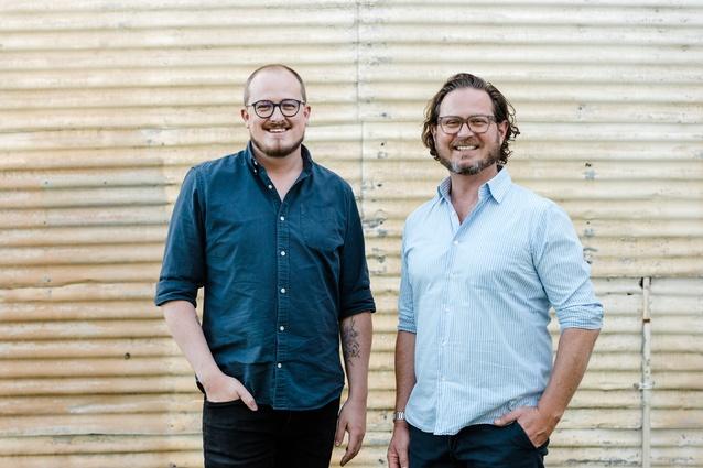 [L-R]: Phillip Nielsen and Aaron Nicholls of the Regional Design Service.