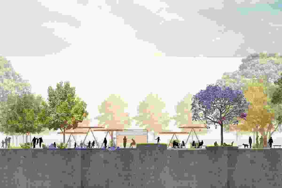 A secion of Garraway Park designed by Oculus.