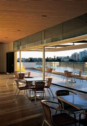 The rooftop restaurant with uninterrupted