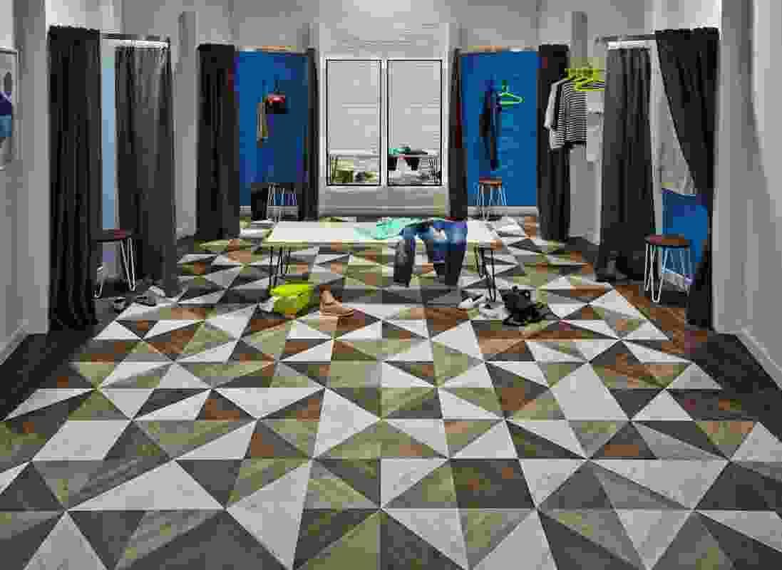 Karndean Kaleidoscope triangle design.