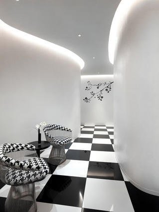 Interiors and branding for The Club Hotel in Singapore, 2010.