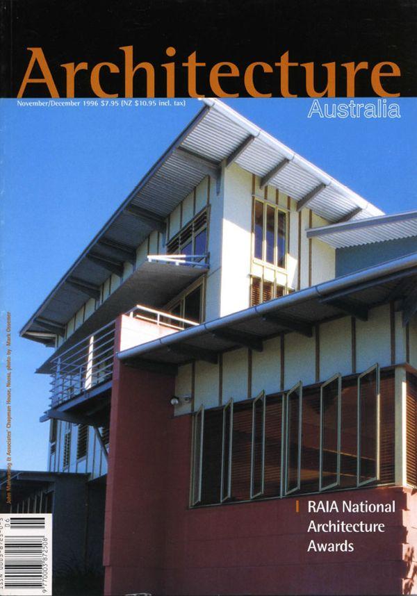 Architecture Australia, November 1996