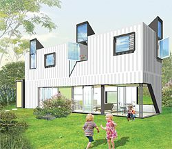 Sky Haus, a prefabricated house designed by Durbach Block for Happy Haus.