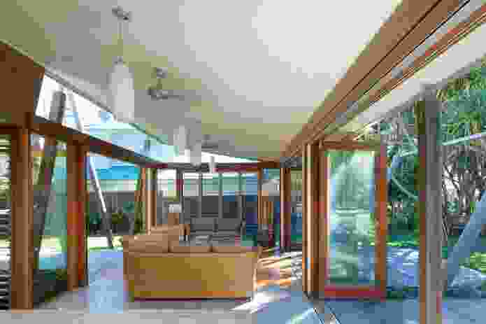 """The living spaces """"offer more transparency than a tent."""""""
